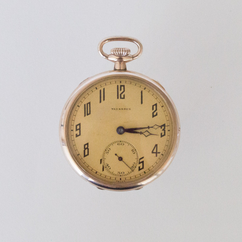 Gold Tavannes Open Face 1899