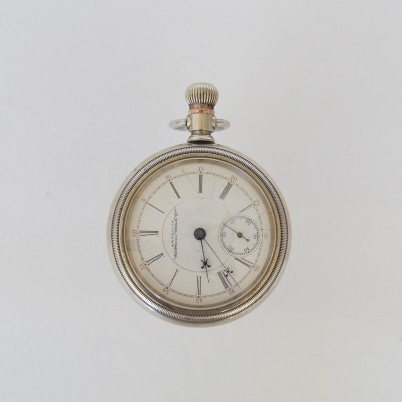 Silver Waltham Open Face 1883
